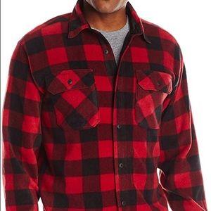 Wrangler buffalo plaid fleece shirt, size L.